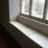 New natural stone window seat constructed