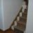 New oak flooring/skirting. String on stairs covered with oak